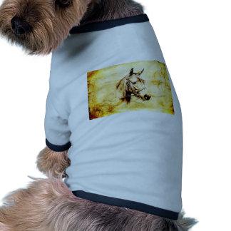 Caballo del fineart F075 del vintage Camiseta Con Mangas Para Perro