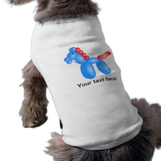 Caballo del globo camisetas de perro