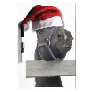 Caballo del gorra de Santa del navidad Pizarra Blanca