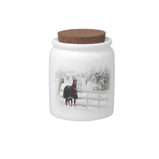 Caballo del invierno jarras para caramelos