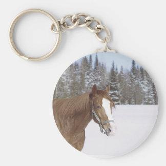 Caballo del invierno llavero redondo tipo pin