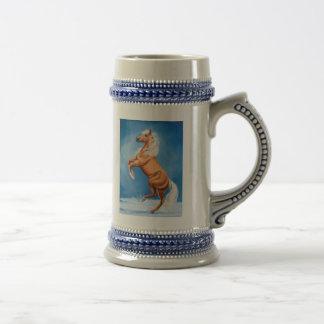 Caballo del invierno taza de café