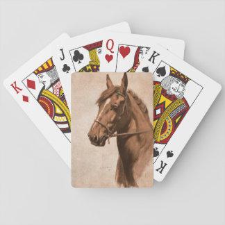 Caballo del jengibre del libro negro de la belleza barajas de cartas
