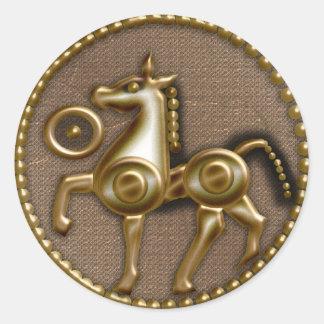 caballo del jersey pegatina redonda