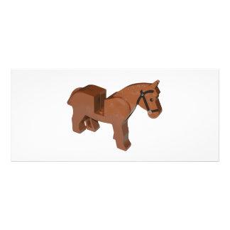 Caballo del ladrillo del juguete tarjeta publicitaria personalizada