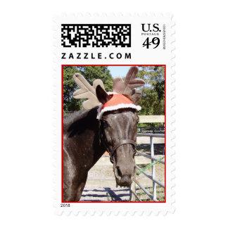 Caballo del navidad con las astas sello