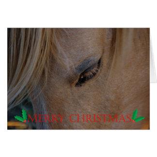 Caballo del navidad de las Felices Navidad buenas  Tarjeta De Felicitación
