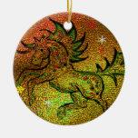 Caballo del navidad - ornamento ornamento para arbol de navidad