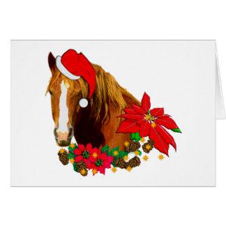 Caballo del navidad tarjeta de felicitación