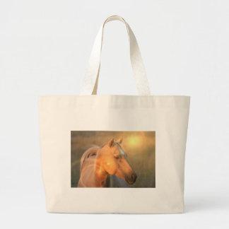 Caballo del Palomino en bolso ligero de la lona Bolsa De Mano
