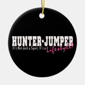 Caballo del puente del cazador adornos de navidad