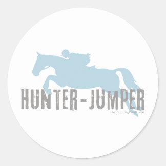 Caballo del puente del cazador etiqueta redonda