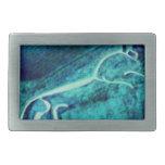 caballo del uffington en azul hebillas cinturón rectangulares