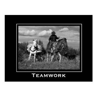 Caballo del vaquero y postales de motivación de la