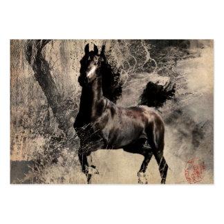 Caballo del vintage - arte de la pintura china tarjetas de visita