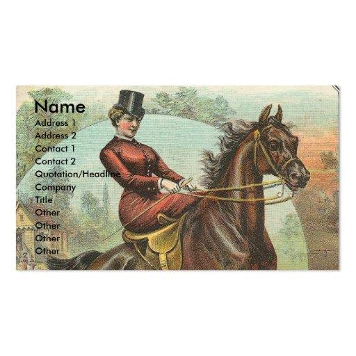 Caballo del vintage tarjetas de visita