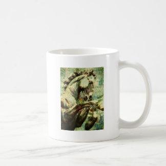 Caballo del vintage taza clásica