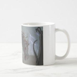Caballo demoníaco taza básica blanca