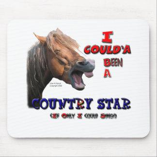Caballo divertido de la estrella del país mousepad