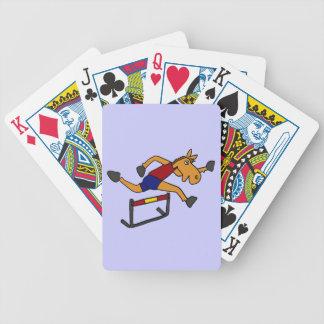 Caballo divertido XY que salta sobre dibujo animad Cartas De Juego