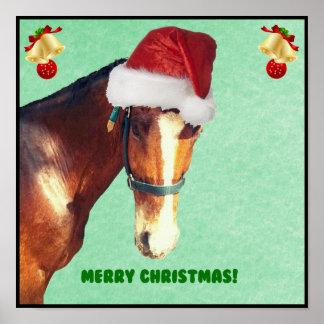 Caballo ecuestre del navidad póster