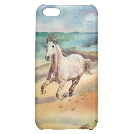 Caballo en el caso del iPhone 5 de la playa