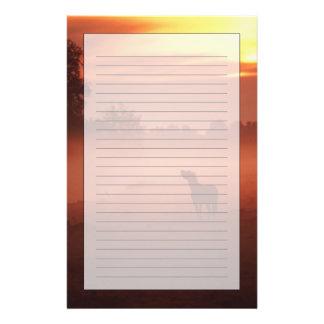 Caballo en la salida del sol papelería personalizada