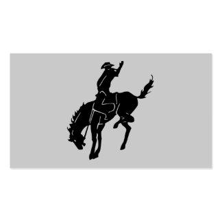 Caballo en la tarjeta de visita del rodeo