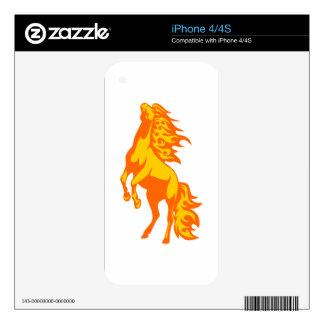 Caballo en llamas skins para iPhone 4