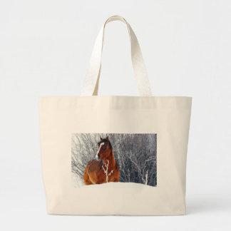Caballo en nieve bolsa