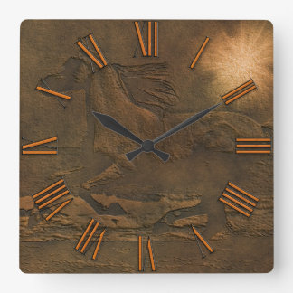 Caballo enérgico salvaje Cantering en imitación de Relojes De Pared