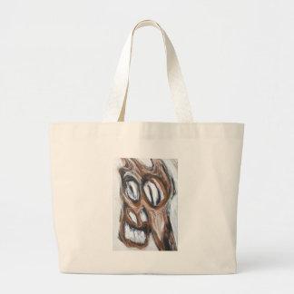 Caballo enojado de Brown (expresionismo animal) Bolsa De Mano