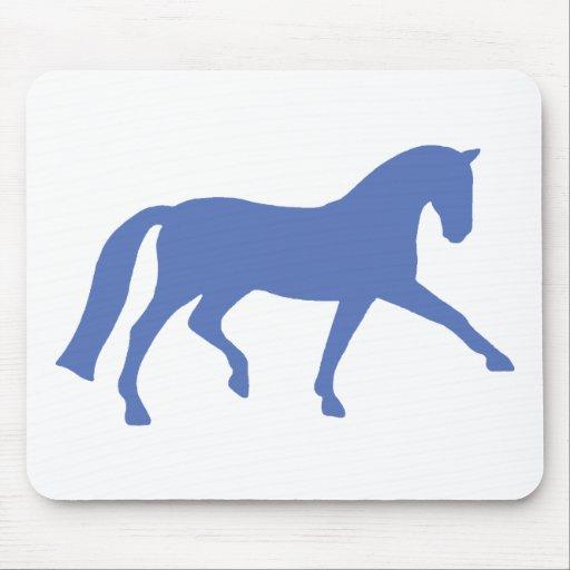 Caballo extendido del Dressage del trote (azul) Alfombrilla De Ratón