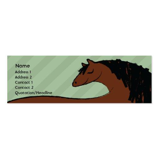 Caballo - flaco tarjeta personal