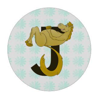 Caballo flexible del monograma J personalizado Juego De Fichas De Póquer