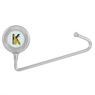 Caballo flexible del monograma K personalizado Colgadores De Bolso