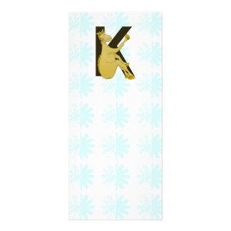 Caballo flexible del monograma K personalizado Plantillas De Lonas
