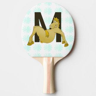 Caballo flexible del monograma M personalizado Pala De Ping Pong