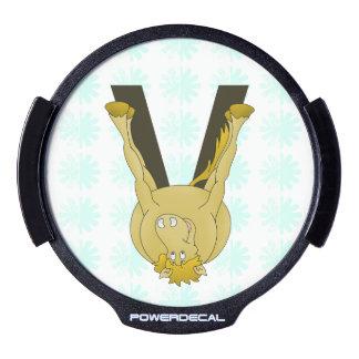 Caballo flexible del monograma V personalizado Sticker LED Para Ventana