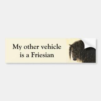Caballo frisio pegatina para auto