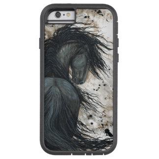 Caballo frisio por el caso del iPhone 6 de Bihrle Funda De iPhone 6 Tough Xtreme