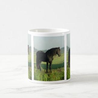 Caballo frisio tazas de café