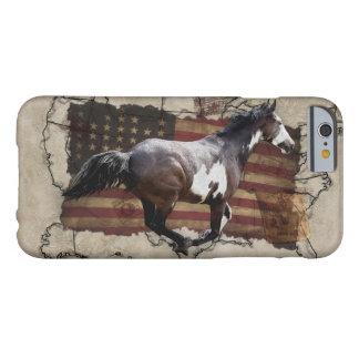 Caballo galopante de los E.E.U.U. Pony Express de Funda Para iPhone 6 Barely There