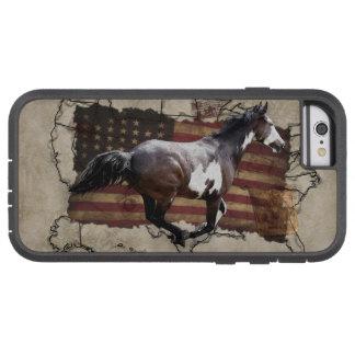 Caballo galopante de los E.E.U.U. Pony Express de Funda Para iPhone 6 Tough Xtreme