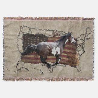 Caballo galopante de los E.E.U.U. Pony Express de Manta