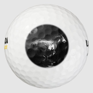 Caballo galopante del Pinto de Smokin Pack De Pelotas De Golf