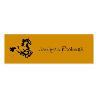 Caballo galopante personalizado salvaje y libre tarjetas de visita mini