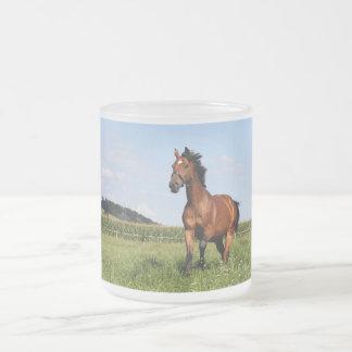 Caballo galopante taza cristal mate