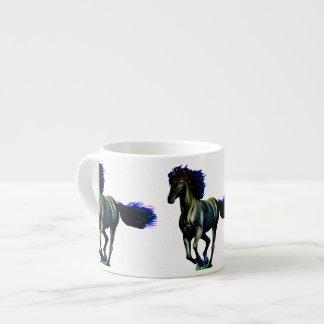 Caballo galopante taza espresso