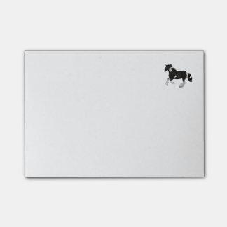 Caballo gitano de Vanner del Pinto blanco y negro Notas Post-it®